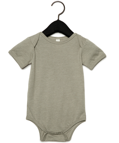 Baby Jersey Short Sleeve One Piece In Heather Stone