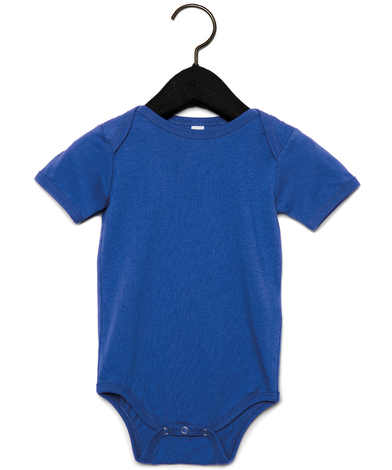 Baby Jersey Short Sleeve One Piece In True Royal