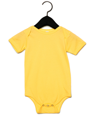 Baby Jersey Short Sleeve One Piece In Yellow