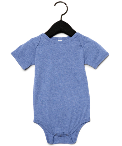 Baby Triblend Short Sleeve One Piece In Blue Triblend