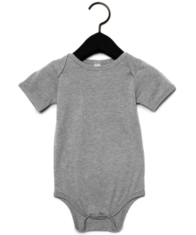Baby Triblend Short Sleeve One Piece In Grey Triblend