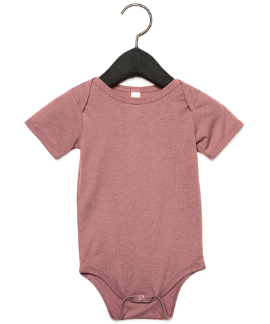 Baby Triblend Short Sleeve One Piece In Mauve Triblend