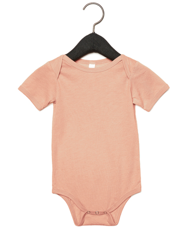 Baby Triblend Short Sleeve One Piece In Peach Triblend