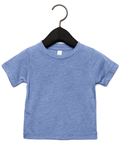 Baby Triblend Short Sleeve Tee In Blue Triblend