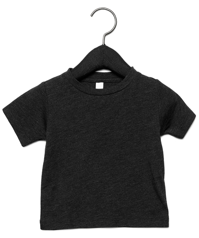 Baby Triblend Short Sleeve Tee In Charcoal-Black Triblend