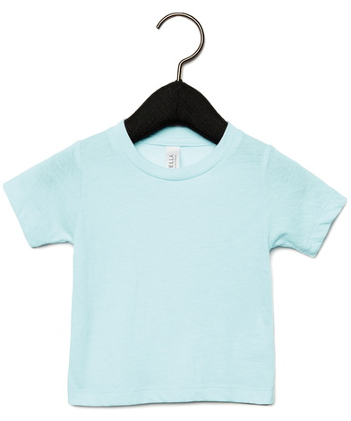 Baby Triblend Short Sleeve Tee In Ice Blue Triblend