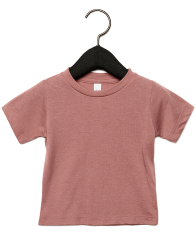 Baby Triblend Short Sleeve Tee In Mauve Triblend