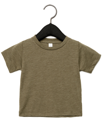 Baby Triblend Short Sleeve Tee In Olive Triblend