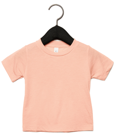 Baby Triblend Short Sleeve Tee In Peach Triblend