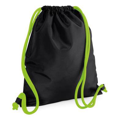 Icon Gymsac In Black/Lime Green