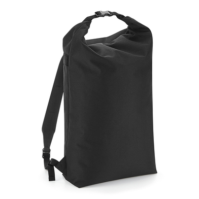 Icon Roll-top Backpack In Black