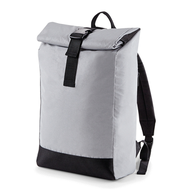 BagBase - Reflective Roll-top Backpack