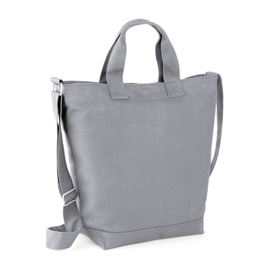 Canvas Day Bag In Light Grey