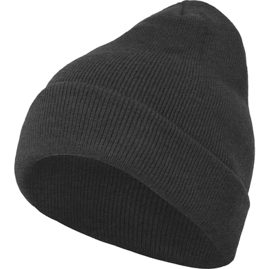Heavy Knit Beanie In Charcoal