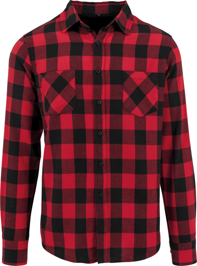 Checked Flannel Shirt In Black/Red