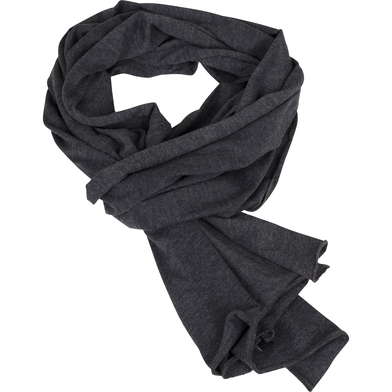Jersey Scarf In Charcoal