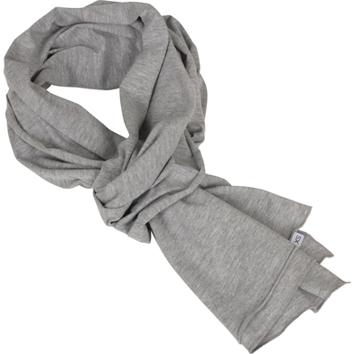 Jersey Scarf In Heather Grey