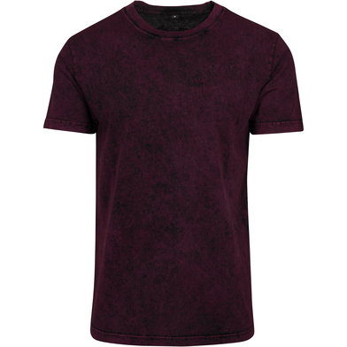 Acid Washed Tee In Berry/Black