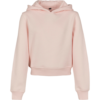 Girls Cropped Sweat Hoodie In Pink