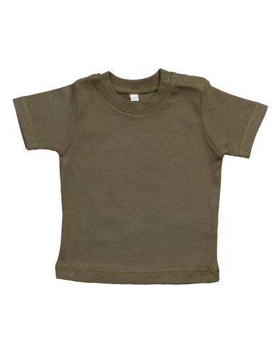 Baby T In Organic Camouflage Green