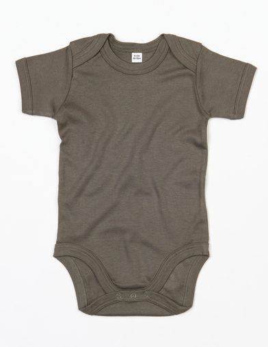 Baby Bodysuit In Organic Camouflage Green