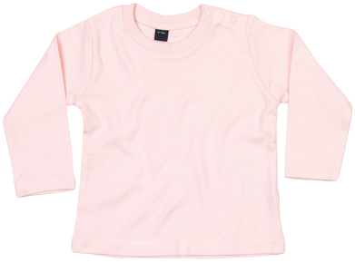 Baby Long Sleeve T In Powder Pink