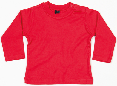 Baby Long Sleeve T In Red