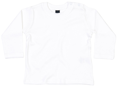 Baby Long Sleeve T In White