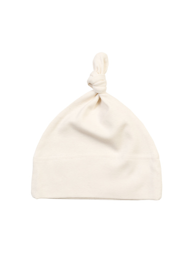 Baby One-knot Hat In Organic Natural