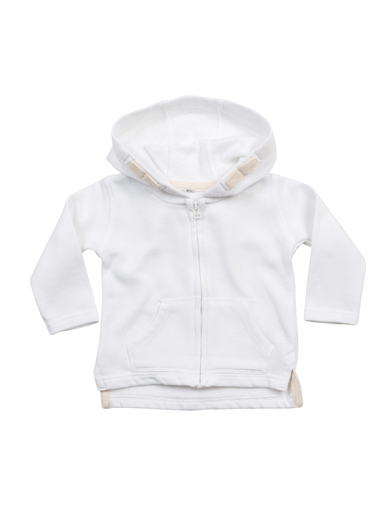 Baby Hoodie In White