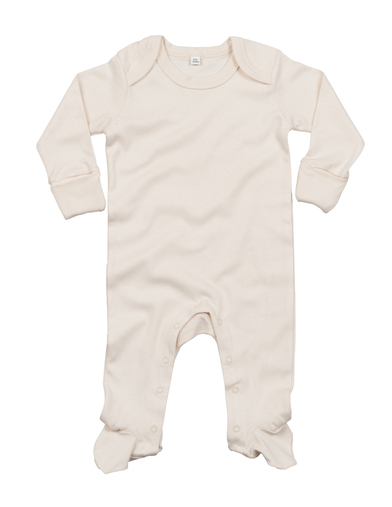 Baby Organic Envelope Sleepsuit With Mitts In Organic Natural