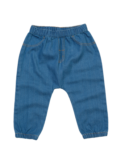 Baby Rocks Denim Trousers In Organic Denim