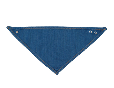 Baby Rocks Denim Bandana Bib In Organic Denim