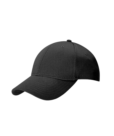 Front Crested Cap In Black