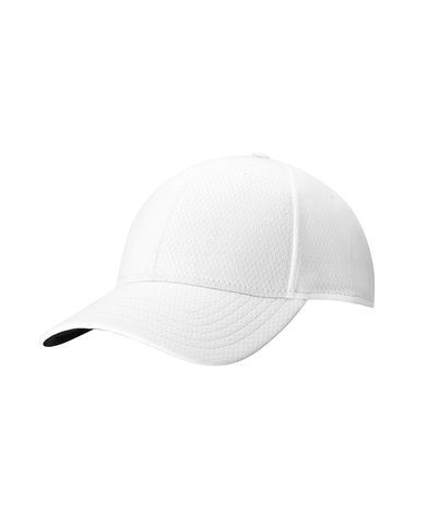 Front Crested Cap In White