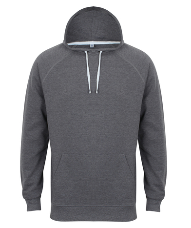 French Terry Hoodie In Charcoal Marl
