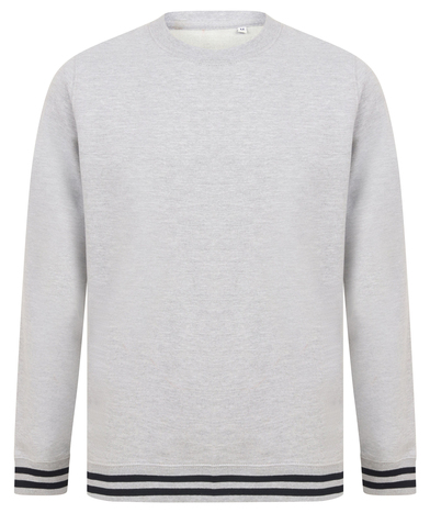Front Row - Sweatshirt With Striped Cuffs