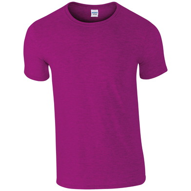 Softstyle Adult Ringspun T-shirt In Antique Heliconia
