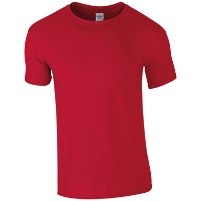 Softstyle Adult Ringspun T-shirt In Cherry Red