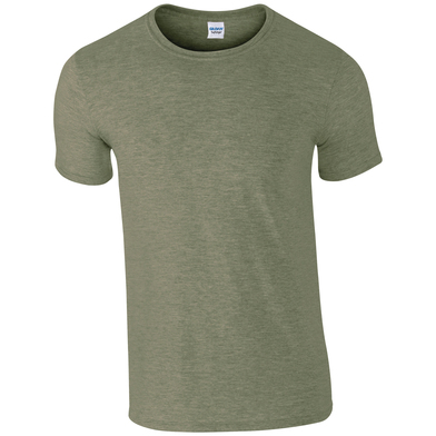 Softstyle Adult Ringspun T-shirt In Heather Military Green