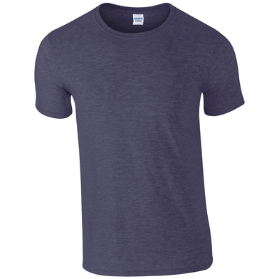 Softstyle Adult Ringspun T-shirt In Heather Navy