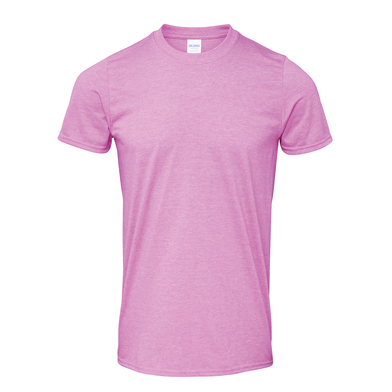 Softstyle Adult Ringspun T-shirt In Heather Radiant Orchid