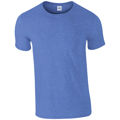 Softstyle Adult Ringspun T-shirt In Heather Royal