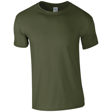 Softstyle Adult Ringspun T-shirt In Military Green