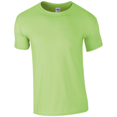 Softstyle Adult Ringspun T-shirt In Mint Green