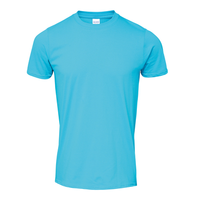 Softstyle Adult Ringspun T-shirt In Tropical Blue