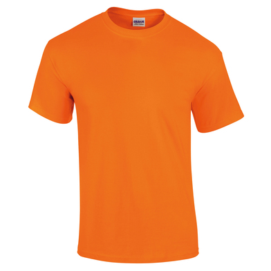 Ultra Cotton Adult T-shirt In Safety Orange