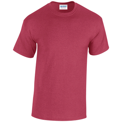Heavy Cotton Adult T-shirt In Antique Cherry Red