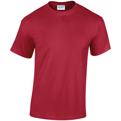 Heavy Cotton Adult T-shirt In Cardinal Red