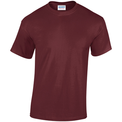 Heavy Cotton Adult T-shirt In Maroon